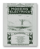 "Modern Electrics 09-1911 11"" x 14"" Mono Tone Print (Choose Your Color)"