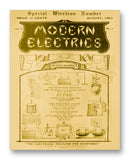 "Modern Electrics 08-1909 11"" x 14"" Mono Tone Print (Choose Your Color)"
