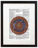 "Cosmic Zodiac 8.5""x11"" Semi Translucent Dictionary Art Print"