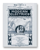 "Modern Electrics 04-1911 11"" x 14"" Mono Tone Print (Choose Your Color)"