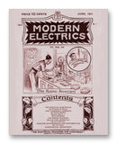 "Modern Electrics 06-1911 11"" x 14"" Mono Tone Print (Choose Your Color)"