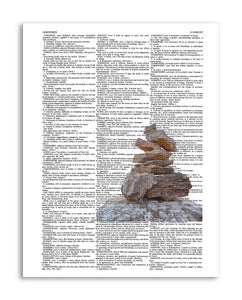 "Harmony Stones 8.5""x11"" Semi Translucent Dictionary Art Print"