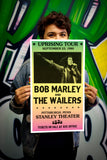 "Uprising Tour - Bob Marley & The Wailers - Stanley Theatre Pittsburg - 13""x22"" Vintage Style Showprint Poster - Home Nostalgia Decor – Wall Art Print - Concert Bill"