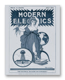 "Modern Electrics 07-1912 11"" x 14"" Mono Tone Print (Choose Your Color)"