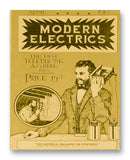 "Modern Electrics 04-1913 11"" x 14"" Mono Tone Print (Choose Your Color)"