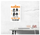 "The Ramones - Civic Auditorium - 13""x22"" Vintage Style Showprint Poster - Home Nostalgia Decor – Wall Art Print - Concert Bill"