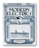 "Modern Electrics 11-1913 11"" x 14"" Mono Tone Print (Choose Your Color)"