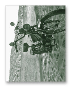 "Pinto Moped on Beach 11"" x 14"" Mono Tone Print (Choose Your Color) - Jacob Andrew Dodge Artist Edition"