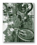 "Pinto Moped & Funhouse 11"" x 14"" Mono Tone Print (Choose Your Color) - Jacob Andrew Dodge Artist Edition"