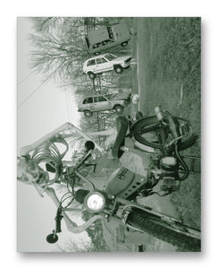 "Pinto Moped & Yugos 11"" x 14"" Mono Tone Print (Choose Your Color) - Jacob Andrew Dodge Artist Edition"
