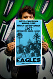 "The Eagles – Hotel California - 13""x22"" Vintage Style Showprint Poster - Home Nostalgia Decor – Wall Art Print - Concert Bill"