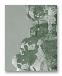 "Mount Rushmore Close Up 11"" x 14"" Mono Tone Print (Choose Your Color) - Jacob Andrew Dodge Artist Edition"