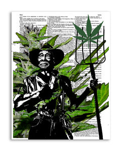 "Marijuana Farmer 8.5""x11"" Semi Translucent Dictionary Art Print"