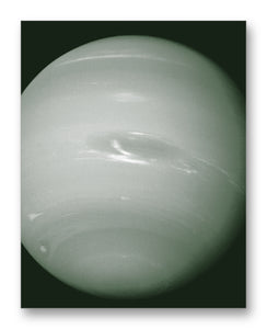"Voyager 2 Neptune 11"" x 14"" Mono Tone Print (Choose Your Color)"
