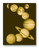 "Solar System 11"" x 14"" Mono Tone Print (Choose Your Color)"