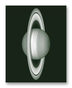 "Saturn from Hubble 11"" x 14"" Mono Tone Print (Choose Your Color)"