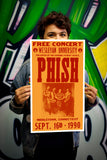 "Phish – Wesleyan University Middletown Connecticut - 13""x22"" Vintage Style Showprint Poster - Home Nostalgia Decor – Wall Art Print - Concert Bill"