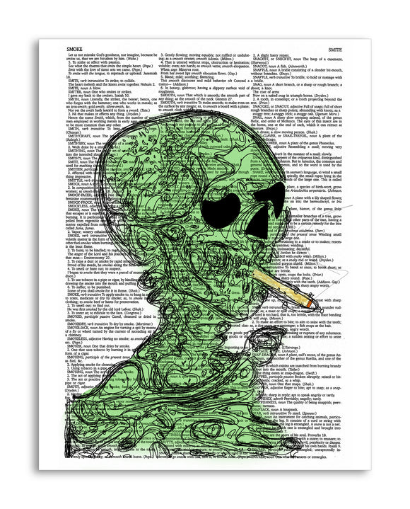 Marijuana Smoke Skeleton 8.5