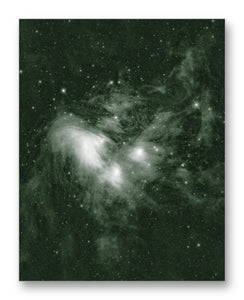 "Pleiades Cluster 11"" x 14"" Mono Tone Print (Choose Your Color)"