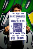 "Bruce Springsteen & The E. Street Band – Bottom Line New York City - 13""x22"" Vintage Style Showprint Poster - Home Nostalgia Decor – Wall Art Print - Concert Bill"