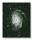 "NGC 6744 Galaxy 11"" x 14"" Mono Tone Print (Choose Your Color)"
