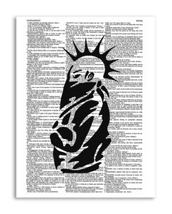 "Punk Rocker 8.5""x11"" Semi Translucent Dictionary Art Print"