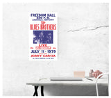 "The Blues Brothers - Freedom Hall - 13""x22"" Vintage Style Showprint Poster - Home Nostalgia Decor – Wall Art Print - Concert Bill"