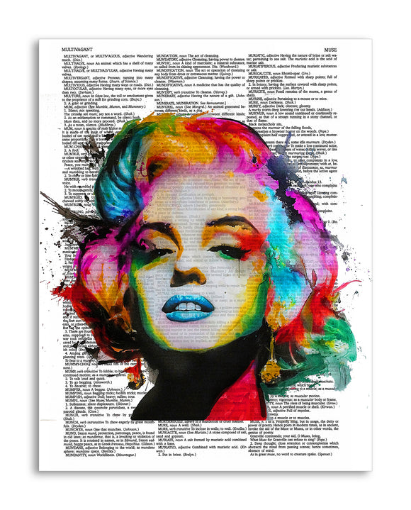 Colorful Marilyn Monroe Painting 8.5