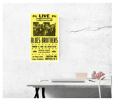"Live In Concert - The Blues Brothers - 13""x22"" Vintage Style Showprint Poster - Home Nostalgia Decor – Wall Art Print - Concert Bill"