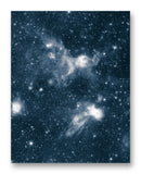 "Spitzer Space Telescope Nebula 11"" x 14"" Mono Tone Print (Choose Your Color)"