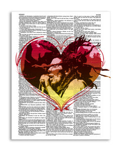 "Love Marley 8.5""x11"" Semi Translucent Dictionary Art Print"