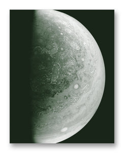"Jupiter from Juno 11"" x 14"" Mono Tone Print (Choose Your Color)"