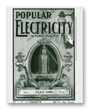 "Popular Electricity 05-1908 11"" x 14"" Mono Tone Print (Choose Your Color)"