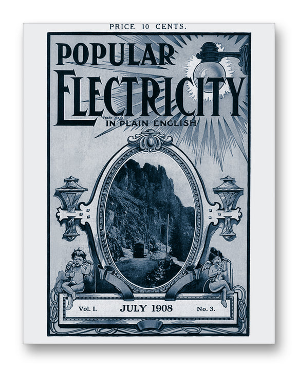 Popular Electricity 07-1908 11x14 Monotoned Print