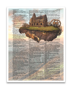"Temple in the Sky 8.5""x11"" Dictionary Art Print"