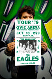 "The Eagles Tour - Civic Arena Pittsburgh - 13""x22"" Vintage Style Showprint Poster - Home Nostalgia Decor – Wall Art Print - Concert Bill"