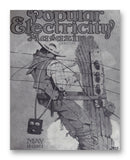 "Popular Electricity 05-1913 11"" x 14"" Mono Tone Print (Choose Your Color)"