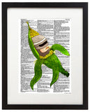 "Robo Crop 8.5""x11"" Semi Translucent Dictionary Art Print - Artmeat Artist Edition"