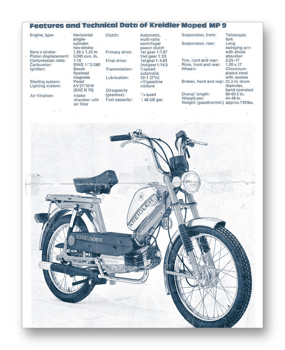 Kreidler Moped Tech Specs 11