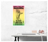 "World Tour 1990 - Madonna - Blonde Ambition - 13""x22"" Vintage Style Showprint Poster - Home Nostalgia Decor – Wall Art Print - Concert Bill"