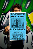 "The First International Puerto Rico Pop Festival - Mar Y Sol - Black Sabbath - 13""x22"" Vintage Style Showprint Poster - Home Nostalgia Decor – Wall Art Print - Concert Bill"