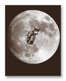 "Laika Floating Over the Moon 11"" x 14"" Mono Tone Print (Choose Your Color)"