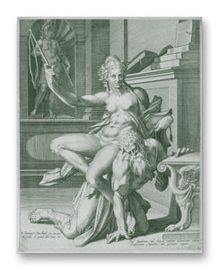 "Phyllis & Aristotle 11"" x 14"" Mono Tone Print (Choose Your Color)"