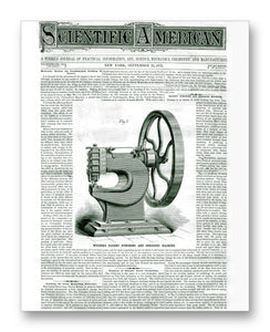 "Scientific American 09-21-1872 11"" x 14"" Mono Tone Print (Choose Your Color)"