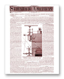"Scientific American 09-28-1872 11"" x 14"" Mono Tone Print (Choose Your Color)"