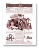 "Scientific American 11-16-1872 11"" x 14"" Mono Tone Print (Choose Your Color)"