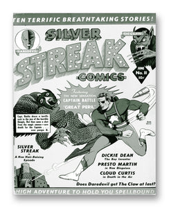 "Silver Streak No11 11"" x 14"" Mono Tone Print (Choose Your Color)"