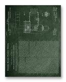 "Tesla Patent 514168 11"" x 14"" Mono Tone Print (Choose Your Color)"