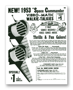 "1953 Walkie Talkie Ad 11"" x 14"" Mono Tone Print (Choose Your Color)"
