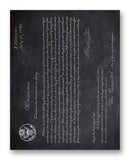 "X000001 First US Patent 11"" x 14"" Mono Tone Print (Choose Your Color)"
